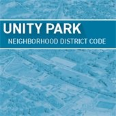 Graphic Text: Unity Park Neighborhood District Code