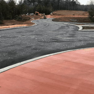 photo of new blacktop along Parallel Parkway