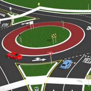 graphic illustration of a roundabout