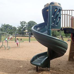 A slide at Kiwanis Park