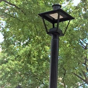 Example of street lights along Main Street