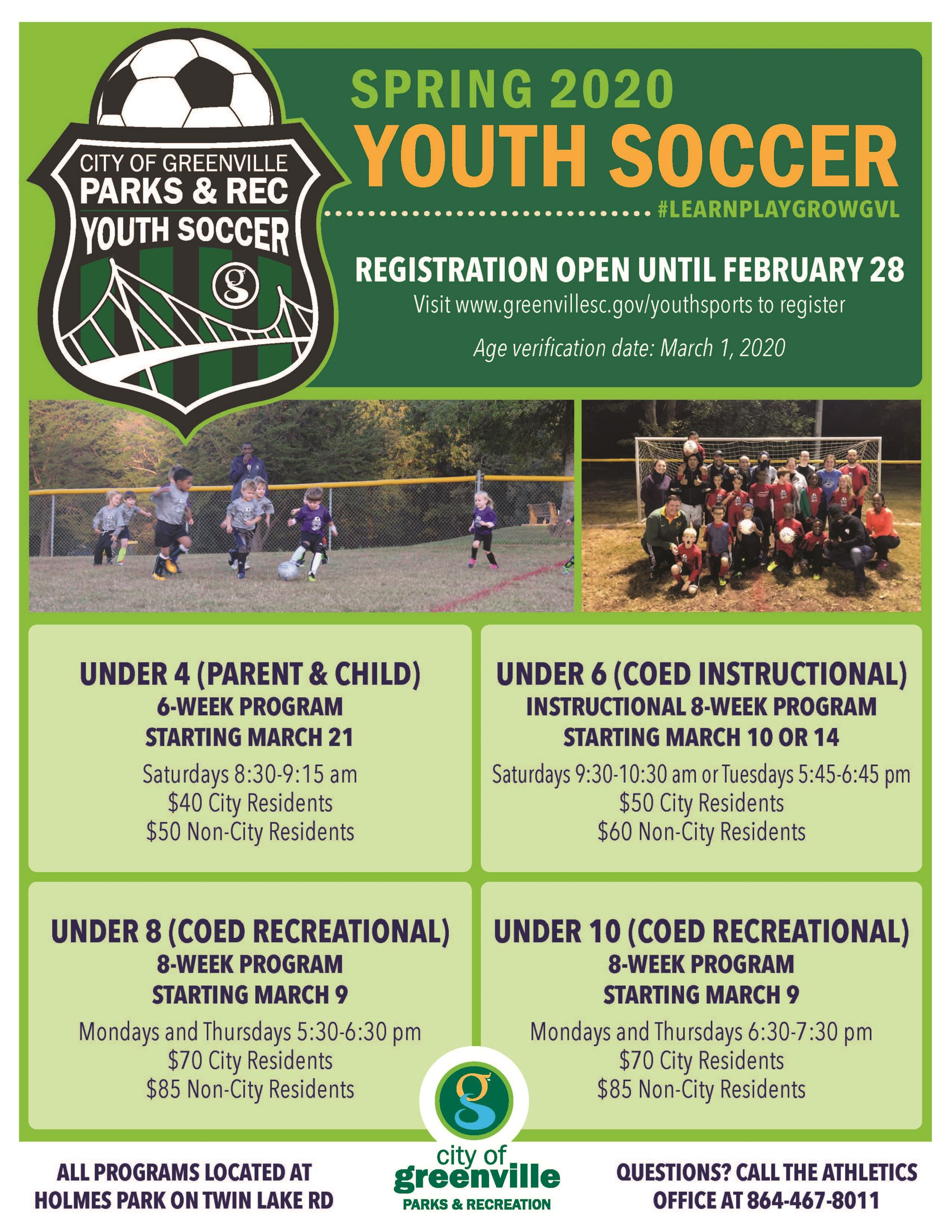 YouthSoccer-SPRING20 Flyer