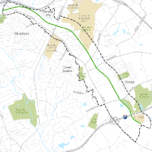 map showing extension of Swamp Rabbit Trail