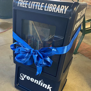 Photo of Greenlink&#39s Little Library display