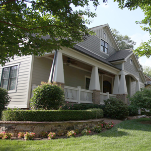 Home exterior in a Greenville neighborhood